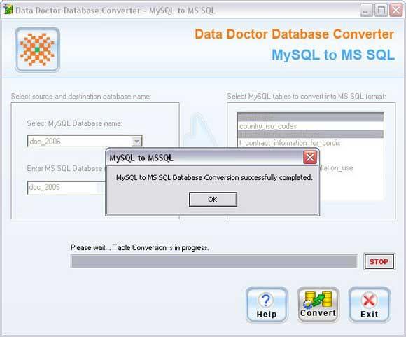 Free download MySQL to MSSQL Migration Software